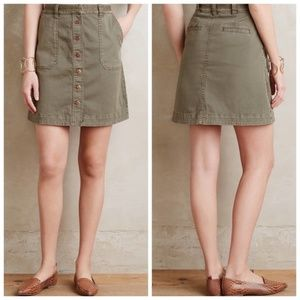 Pilcro & the Letterpress Button Down chino Skirt